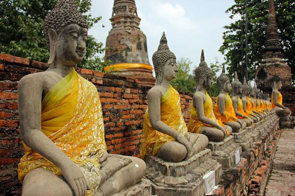 Estatuas de Buda, Ayutthaya - viajes a tailandia