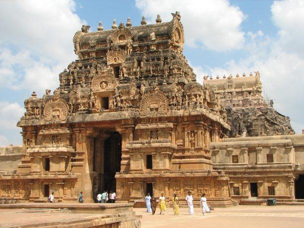 Viaje a India del Sur, templo en Thanjavur