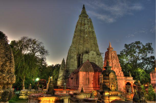 Templo, Bodhgaya, viaje a India