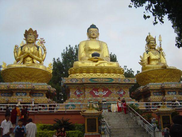 Templo budista de Katmandú - viaje al norte de la India y Nepal