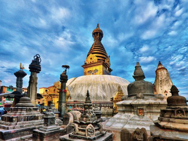 Templo de Swayambhunath - viaje al norte de la India y Nepal
