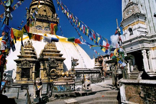 Estupa de Swayambhunath - viaje a Butan y Nepal