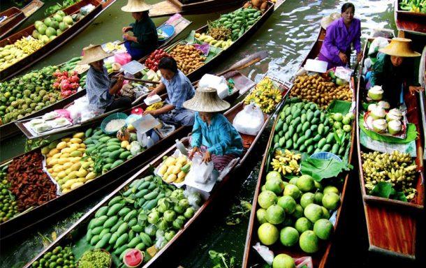 Viaje a Tailandia, mercado flotante de Bangkok