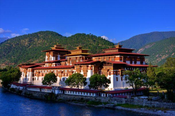 Punakha Dzong, viaje a Butan y Nepal