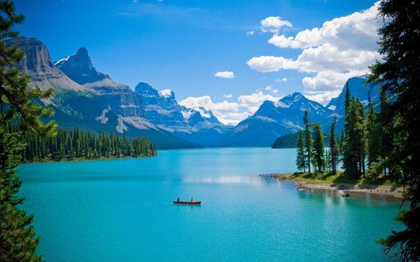 Lago Maligne - viaje a oeste de Canadá