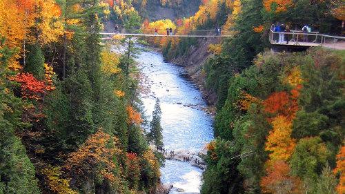 Cañón de Ste. Anne - circuito por Quebec