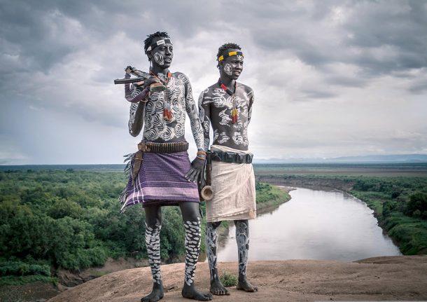 Hombres Karo - circuito por Etiopía sur