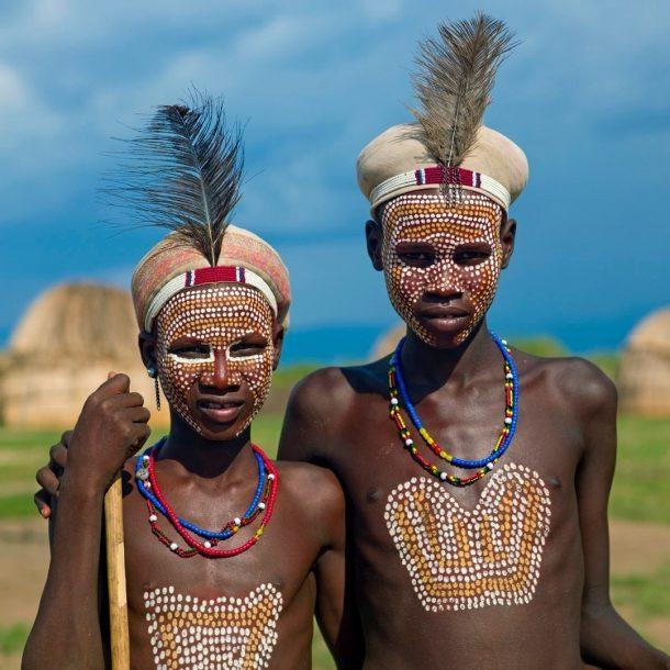 Niños de la tribu Arbore - circuito por Etiopía sur