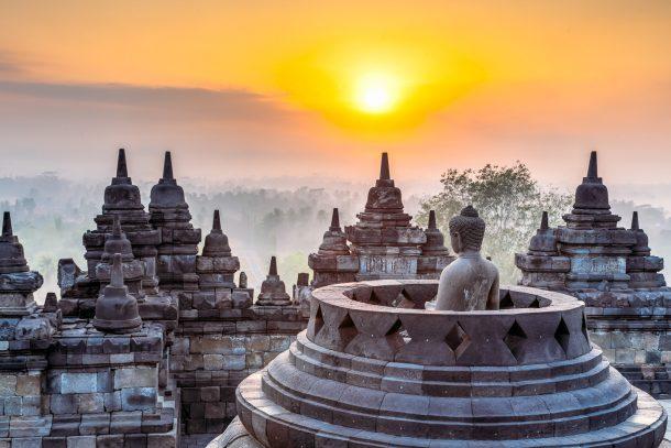 Estupas de Borobudur - viaje a Bali y Java