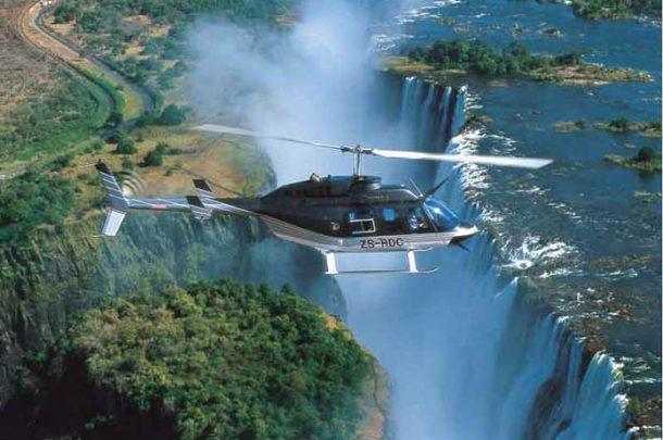 Sobrevuelo de las cataratas Victoria en helicóptero - safari por Botswana