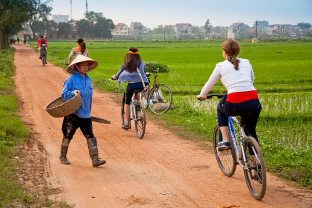 Paseo en bicicleta en Tra Que-Vietnam aventurero