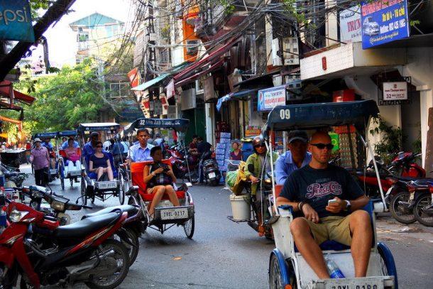 Xiclo barrio antiguo de Hanoi-Vietnam aventurero