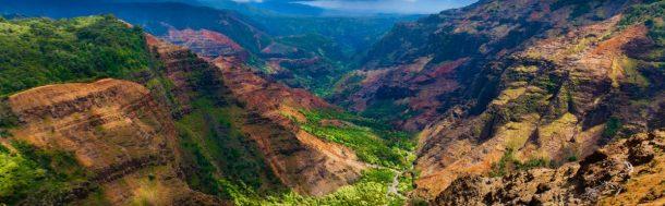 Cañón de Waimea-Kauai-exuberantes islas de hawaii