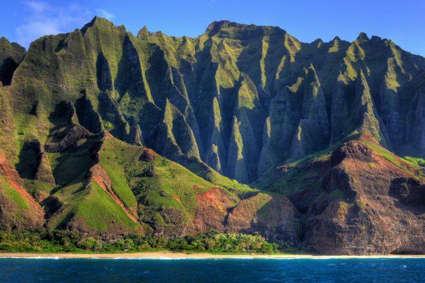 Costa de Na Pali-Kauai-exuberantes islas de hawaii